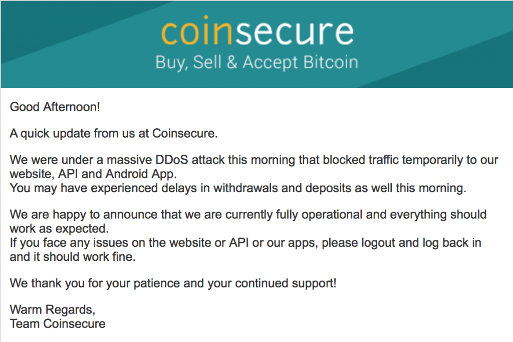 coinsecure mailer