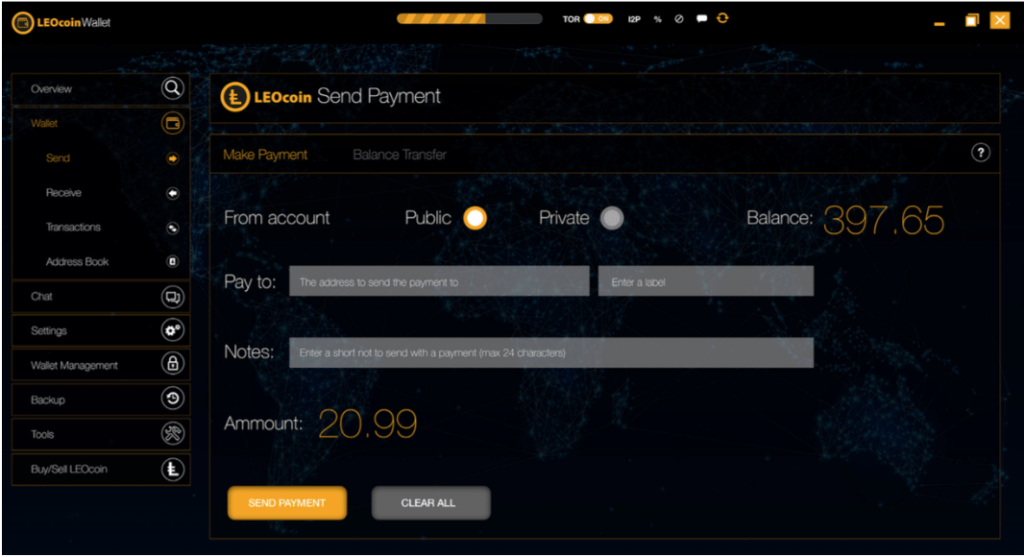 LEOcoin Wallet Illustrates Privacy Feature in Newly Released Screenshots