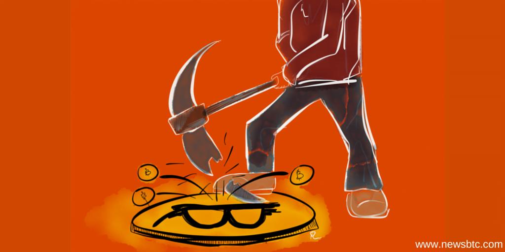 Bitcoin miner unprofitable cartoon NewsBtc