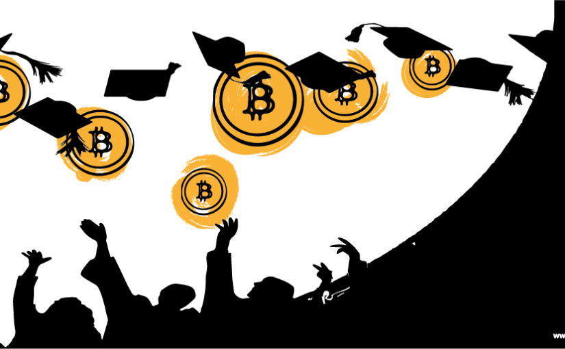 Bitcoin digital currency Education Online Courses Illustration by Newsbtc. Dnotes