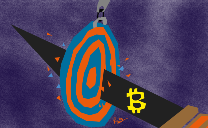 on target bitcoin price illustration