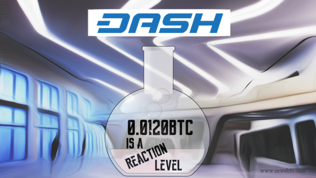 Dash Price Technical Analysis – 0.0120BTC is a Reaction Level