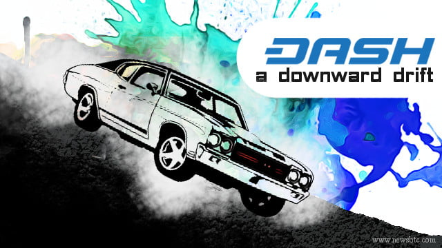 Dash Price Technical Analysis - A Downward Drift