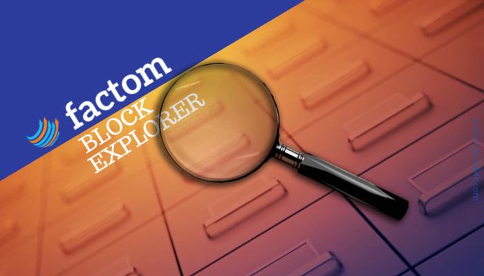 Factom Block Explorer Revealed