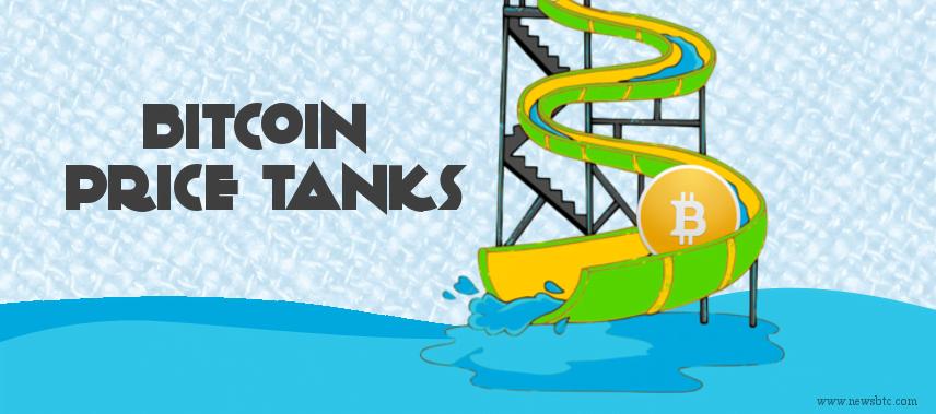 bitcoin price tanks