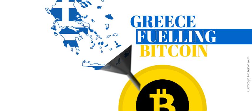 greece grexit fuelling bitcoin price increase ramreva newsbtc bitcoin price illustration