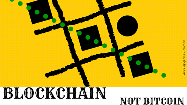 BLOCKCHAIN NOT BITCOIN. NEWSBTC illustration.