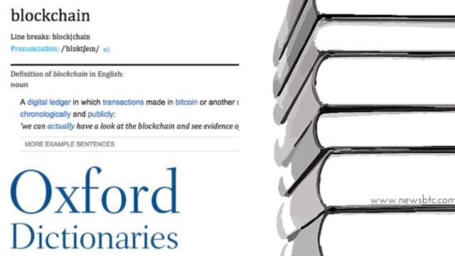 Oxford Dictionaries Updates 'Blockchain' & 'Miner' Definitions.