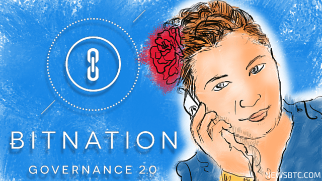 An Interview with Susanne from Bitnation. Newsbtc bitcoin news. illustration