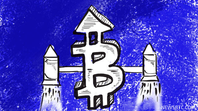 Bitcoin Price Gains. More To Come. bitcoin illustration. newsbtc bitcoin price news