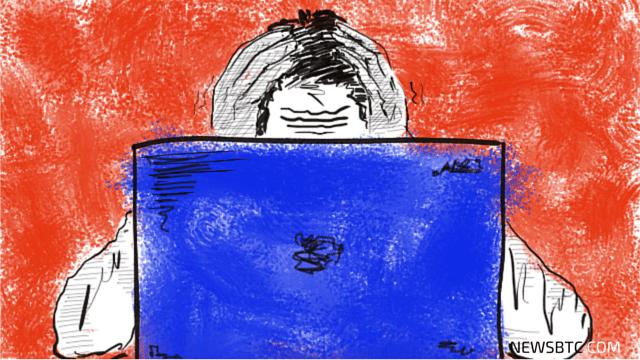 bitcoin extortion plot. bitcoin ransomware. russian banks. illustration. newsbtc bitcoin news