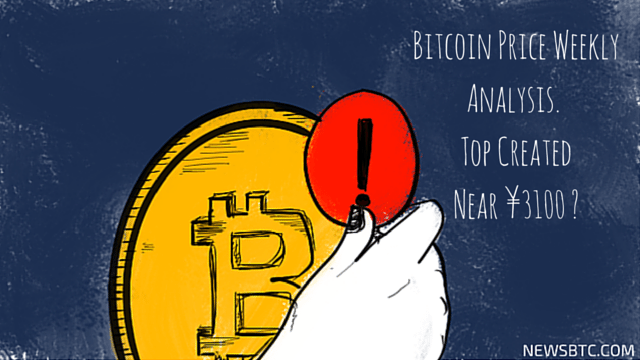 Bitcoin Price Weekly Analysis Top Created Near yuan 3100. newsbtc bitcoin price news