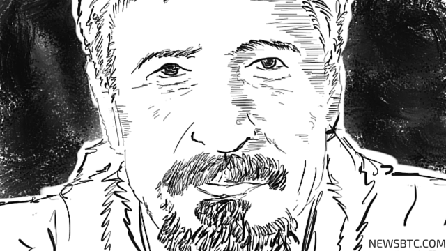 John McAfee illustration. Government wants to control bitcoin. newsbtc bitcoin news.