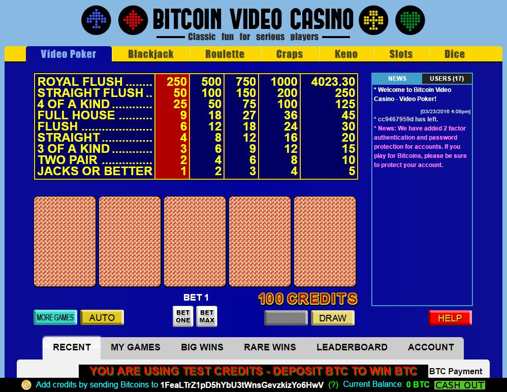 bitcoin, bitcoin video casino