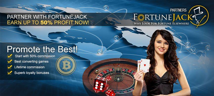 FortuneJack affiliate banner