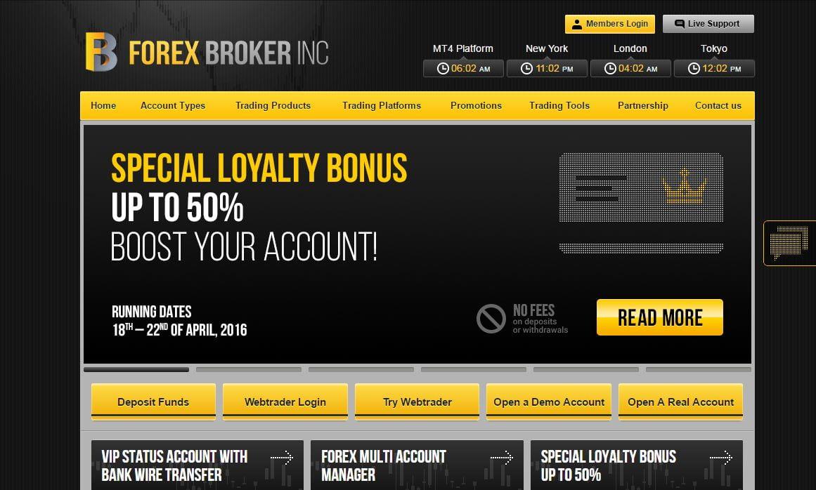Forex broker inc