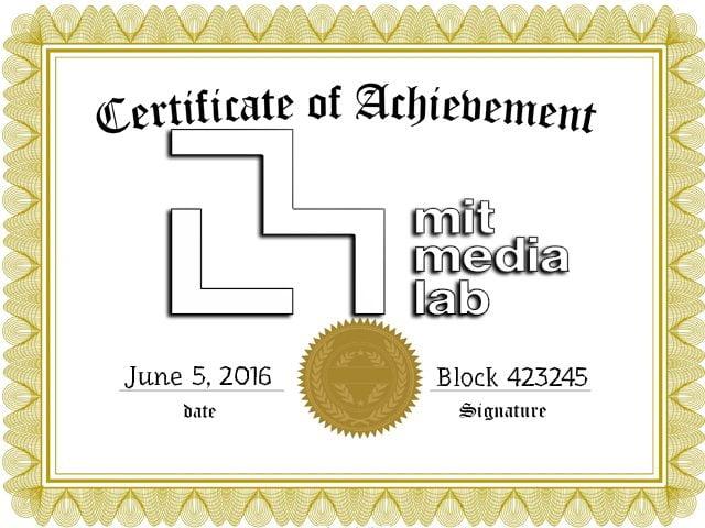 Mit Media Lab Uses The Bitcoin Blockchain Digital Certificates