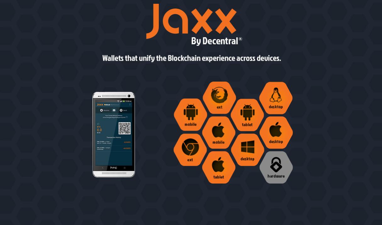 Jaxx wallet, bitcoin, ethereum, DAO, dash
