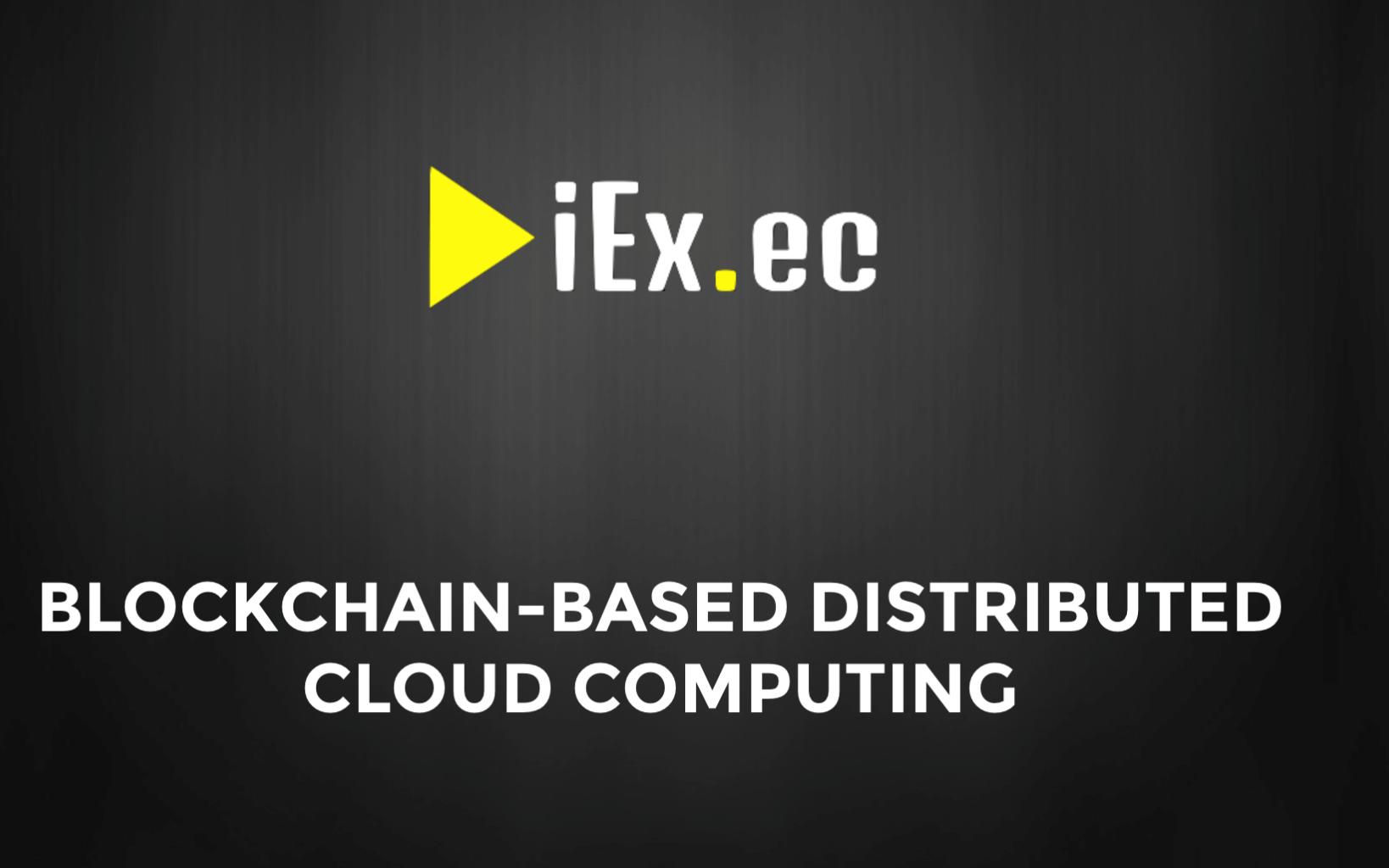 Bitcoin PR Buzz iEx.ec Blockchain Cloud Whitepaper