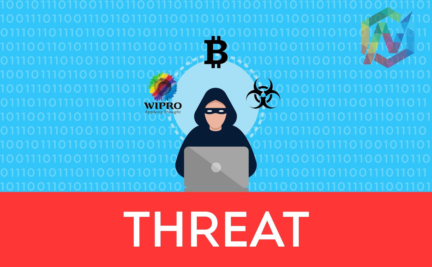 wipro, ricin, ransom, bitcoin