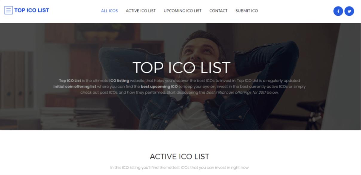 top ico list