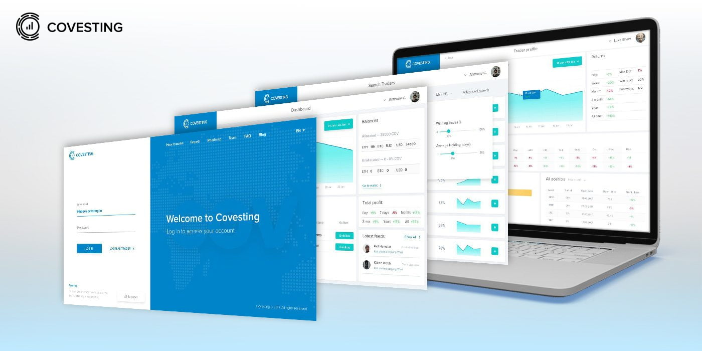 covesting interface