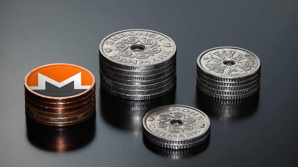 dash and monero coins