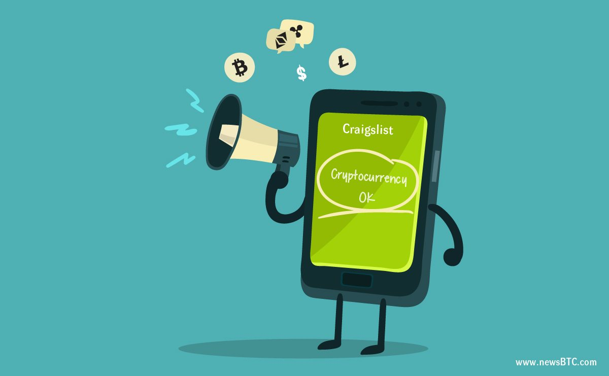 Craigslist Adds Bitcoin Payment Options