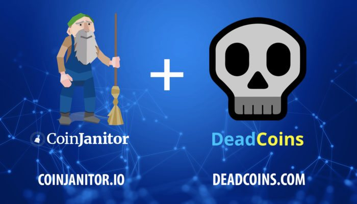 coinjanitor, deadcoins