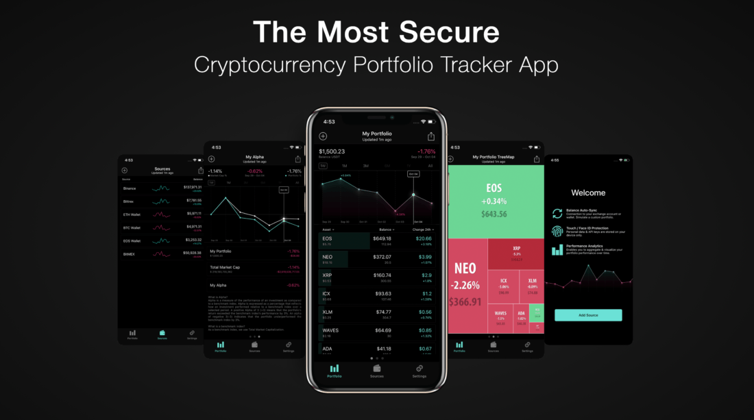 App for tracking cryptocurrency portfolio