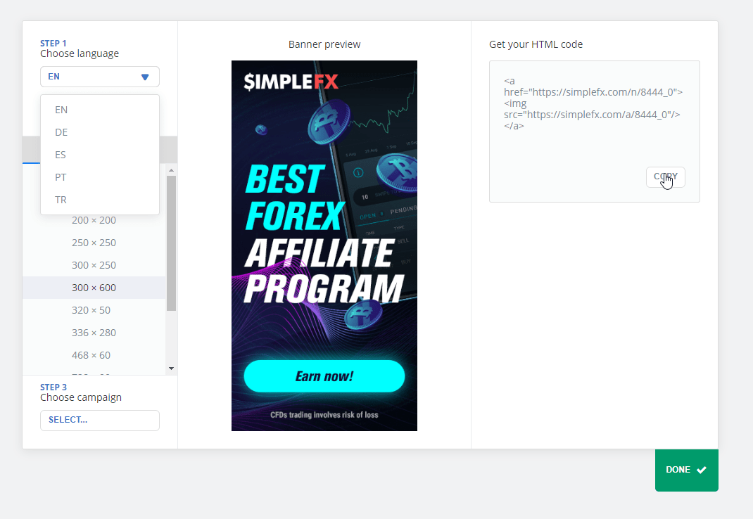 simplefx, affiliate