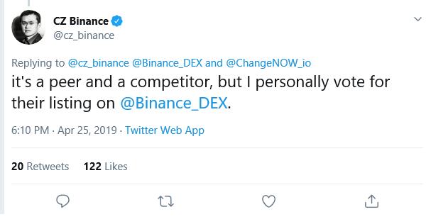 binance, dex