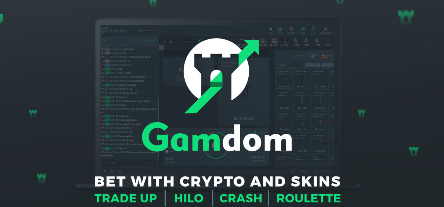 Experience Online Skin & Cryptocurrency Gambling Like Never Before with Gamdom