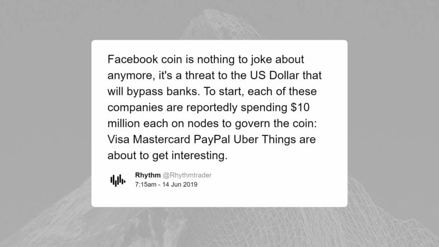 Some say the crypto asset of Facebook may operate as an alternative to the banking system