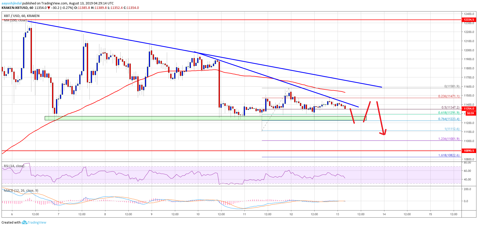 Bitcoin (BTC) Price Technical Bias Favors More Downsides