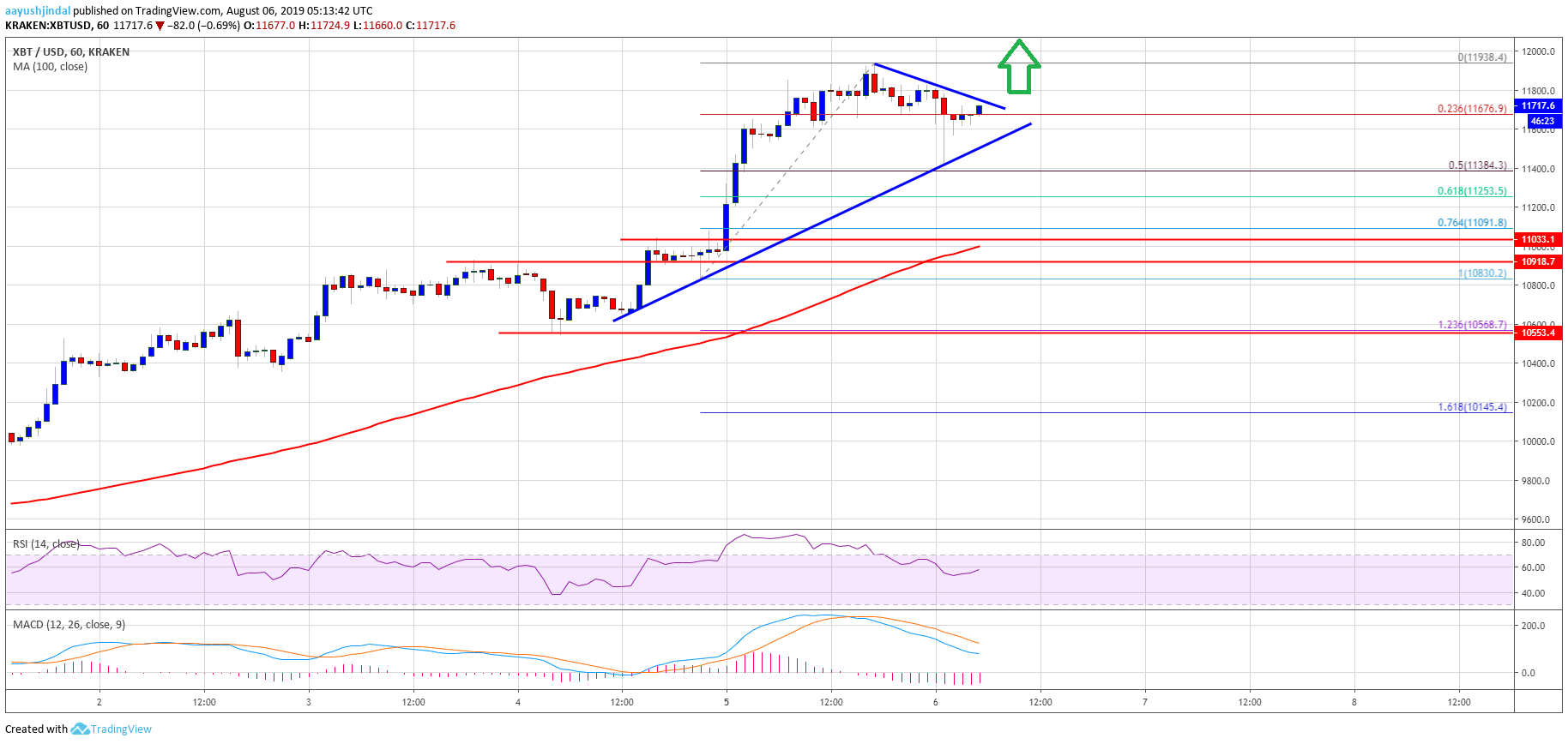 Bitcoin Price Analysis (BTC/USD) Chart