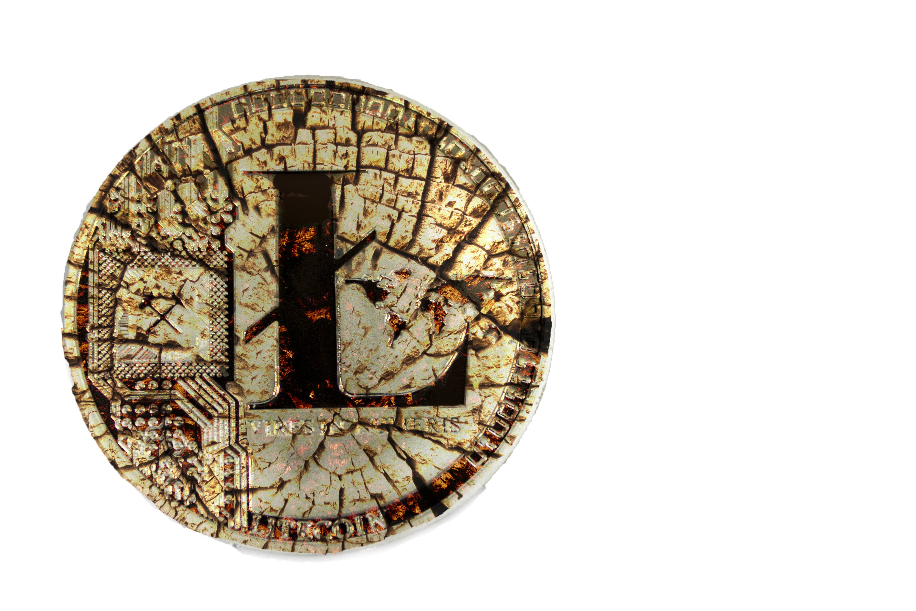 litecoin tarnished digital silver