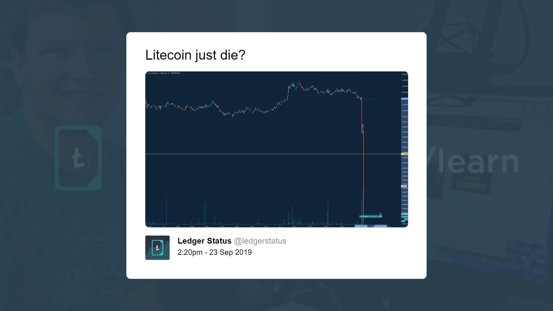 Litecoin Price Tanks By 8% in Minutes as Bitcoin Shows Weakness 14