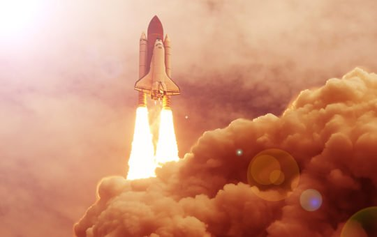 bitcoin crypto rocket