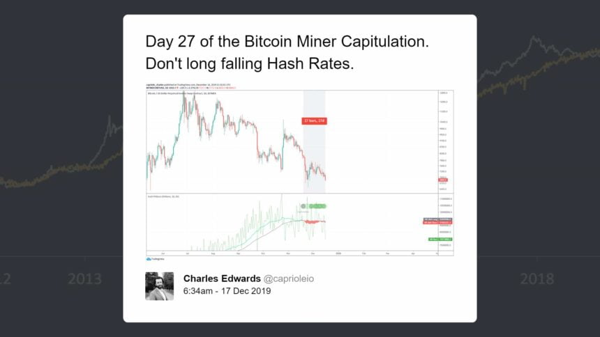 bitcoin miner capitulation
