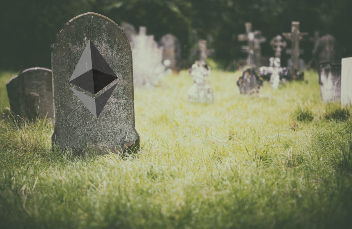 ethereum lies here crypto dead death bitcoin 1200x780 - Any Chance Of Ethereum Outperforming BTC Dies With A Break of Current Levels