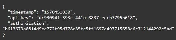 priimebit, API