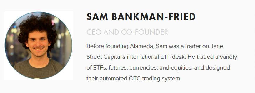 CEO of FTX cryptocurrency exchange