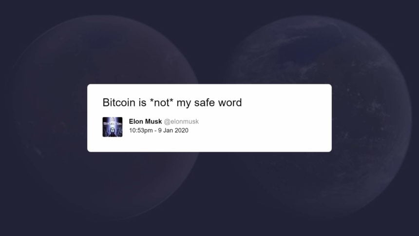 Elon Musk's Bitcoin tweet from January 2020