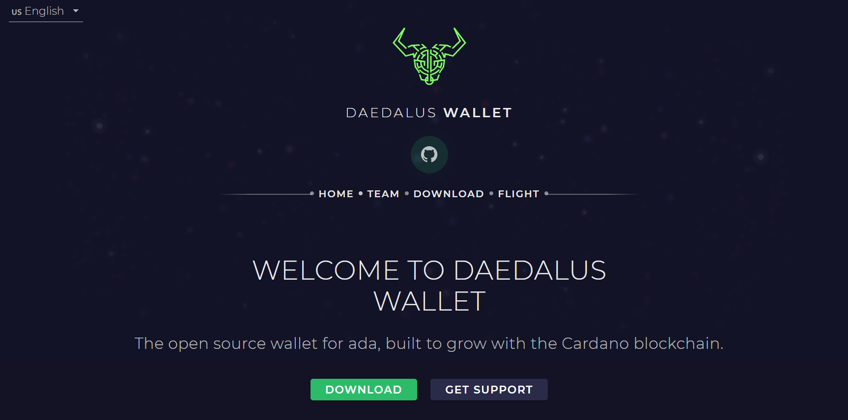 Cardano's native Daedalus wallet