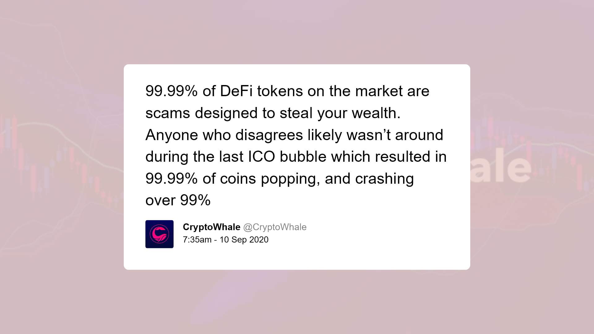 @CryptoWhale warning of DeFi scams