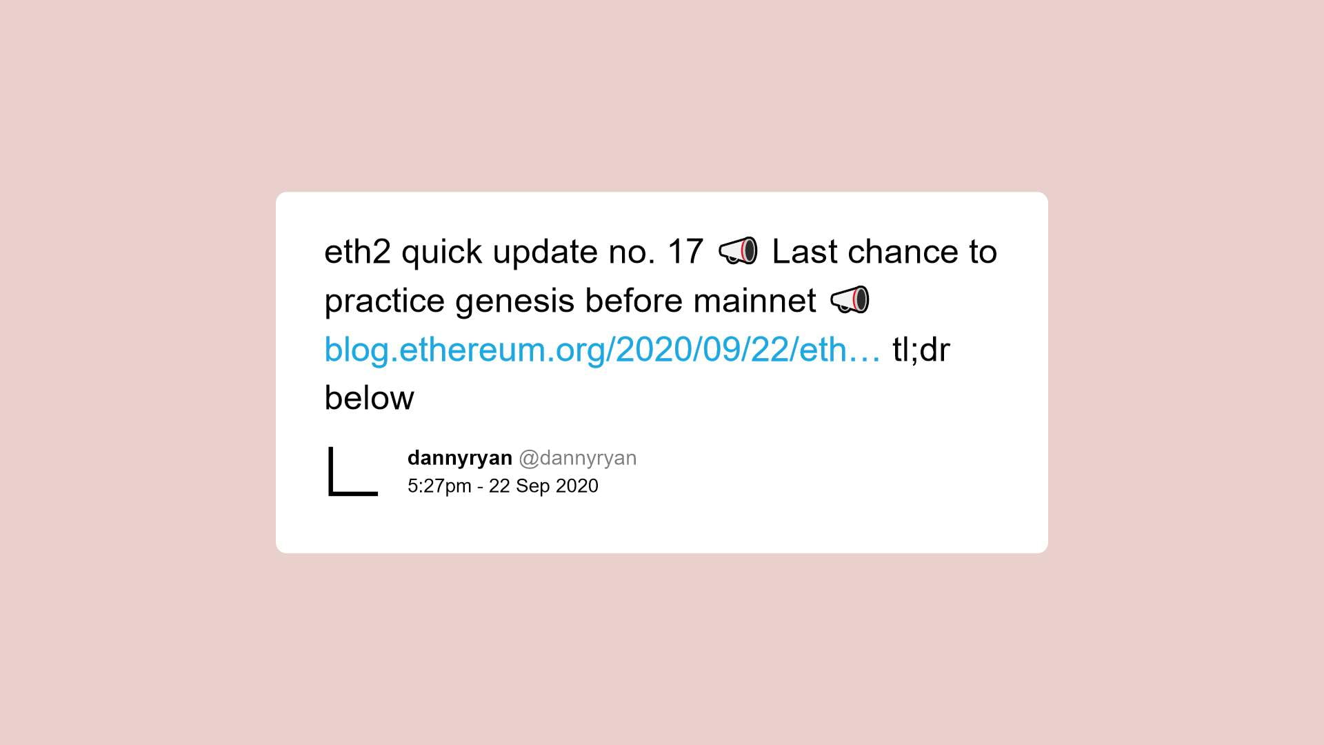 Ethereum 2.0 on final leg of testing