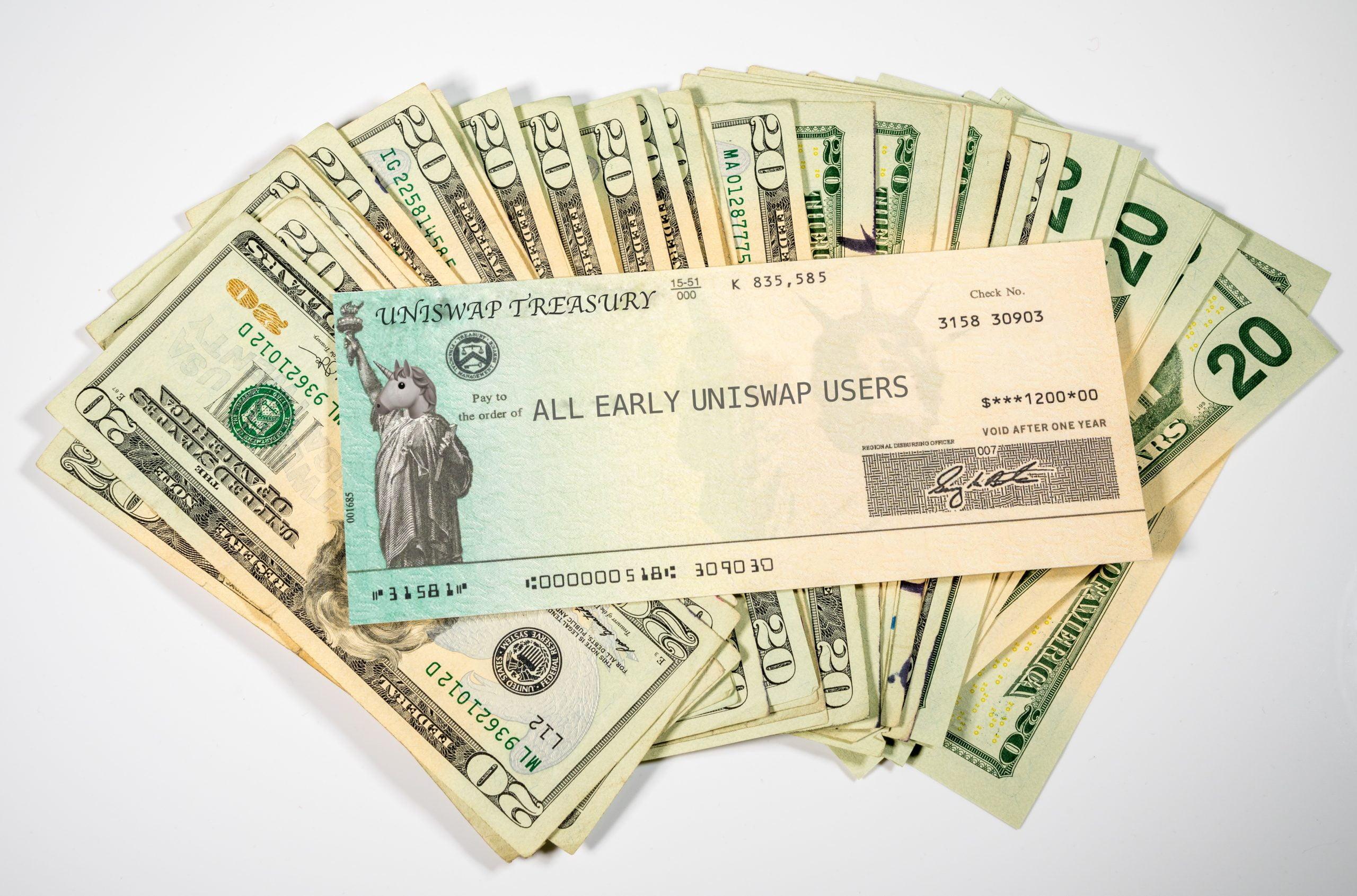 uniswap crypto stimulus check