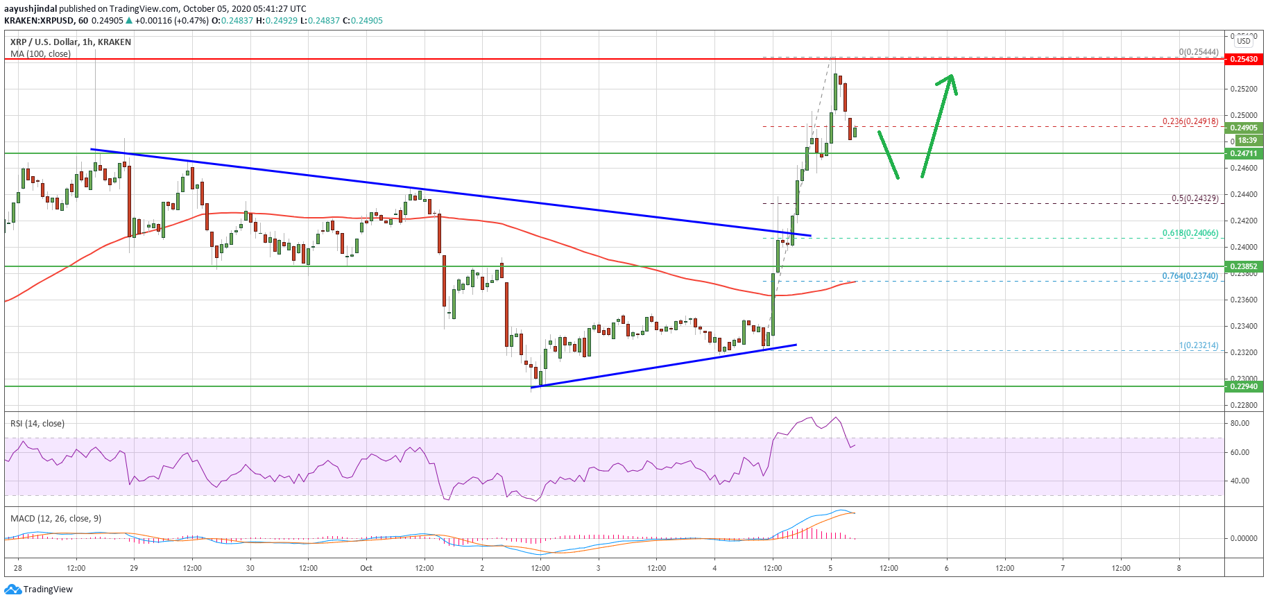 Ripple (XRP) Price Rally Runs Into Significant Resistance: $0.255 Holds The Key