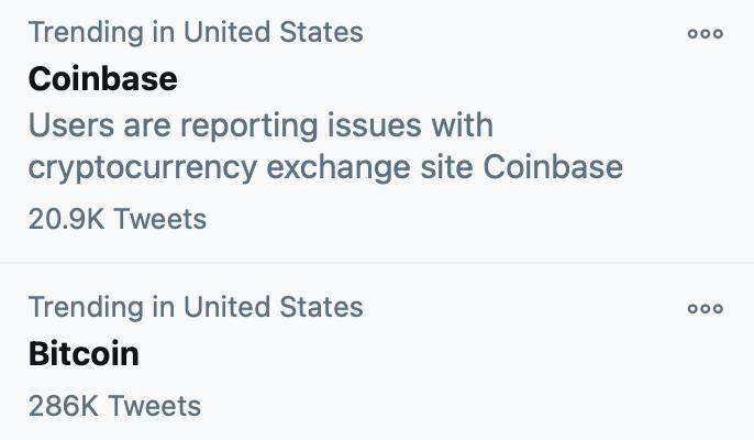 coinbase bitcoin twitter